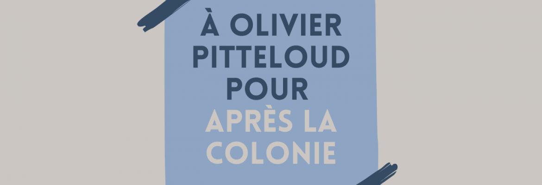 Olivier Pitteloud : Hommages et cadeaux